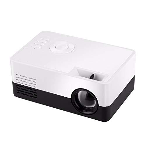 Baslinze Mini tragbarer Projektor Mini Beamer mit Screen Videobeamer unterstützt Full HD Kompatibel mit TV Stick, PS4, HDMI, VGA, SD, AV Multimedia Heimkino Full HD PC 1080P 23 Sprachen