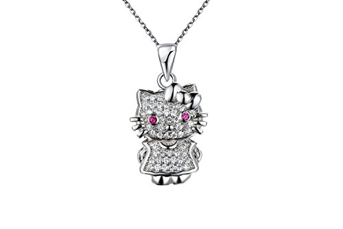 Silent Passion Kettenanhänger Hello Kitty, 925 Silber, incl. Schmuckbox
