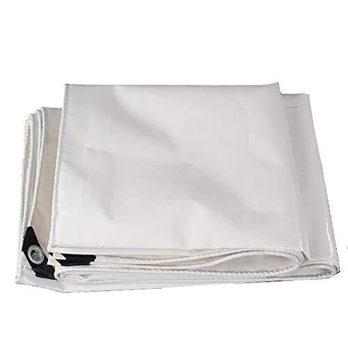 ZBM - ZBM Tarp afdekking 2x1.5m wit 100% waterdicht groot voor Tarpaulin overkapping tent, boot, camper of zwembadafdekking buitenshuis duurzaam folie waterdicht zeil 2x2m wit