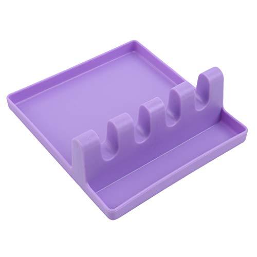 unknow YiYour Soporte para múltiples utensilios de cocina, resistente al calor, cucharones y cucharas, color morado