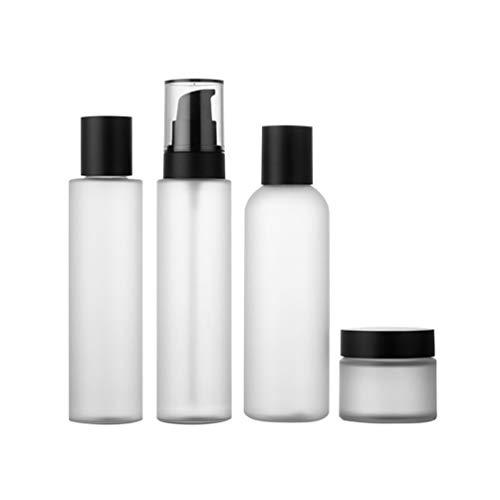 SOLUSTRE 4Pcs Bouteilles de Voyage Conteneurs Bouteilles de Voyage Étanches pour Maquillage Cosmétiques Produits de Toilette Conteneurs Liquides