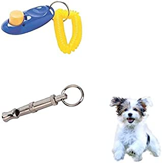 RvPaws Pet Training Clicker and Whistle for Dog, Cat, Kitten, Puppy, Birds (Multicolour)