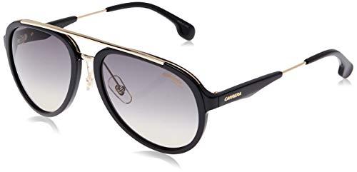 Carrera Men's CA132/S Pilot Sunglasses, BLACK GOLD/GRAY BROWN, 57 mm