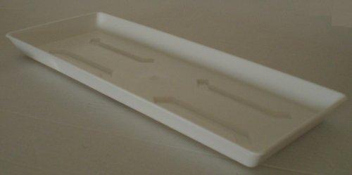 Untersetzer für Balkonkasten Blumenkasten Pflanzkasten aus Kunststoff 80 cm Farbe weiß