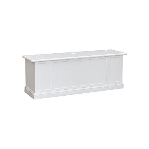 Pieffe Mobili Bolognese Cassapanca, Legno, Bianco, 120x35x45 cm