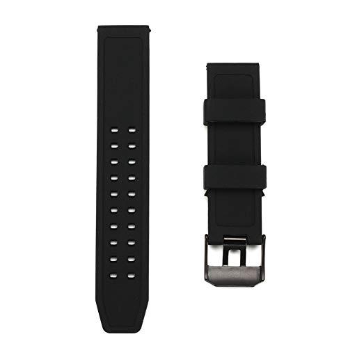 GCDN Correa de Reloj de Pulsera de Silicona Resistente al Agua for Luminox 23 mm de Ancho de orejeta (con Hebilla)
