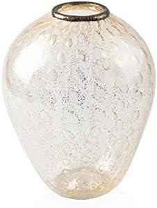 YourMurano, Jarrón veneciano de cristal soplado, ánfora clásica, hoja dorada Asteria