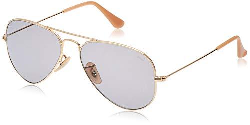 Luxottica S.p.A. Ray-Ban Unisex-Erwachsene 0RB3025 9064V8 58 Sonnenbrille, (Gold/Grey)