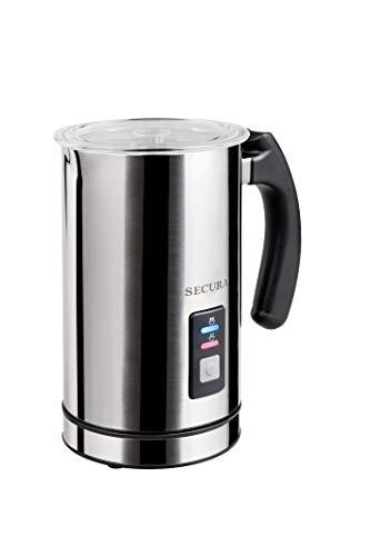Secura Automatischer elektrischer Milchaufschäumer und -wärmer (250 ml) (1 Tasse)