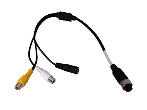 YMPA Adapter Kabel Adapterkabel Anschluss 4PIN 4 IN weiblich auf RCA Cinch für Rückfahrkamera und Rückfahrsysteme