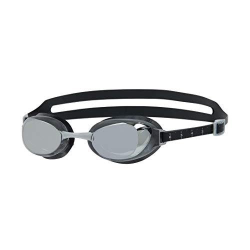 Speedo Aquapure Mirror AU Gafas de natación, Unisex, Black/Silver/Chrome, Talla única