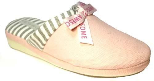de fonseca Ciabatte Pantofole Cotone Donna MOD. Verona E W651 Rosa (Numeric_38)