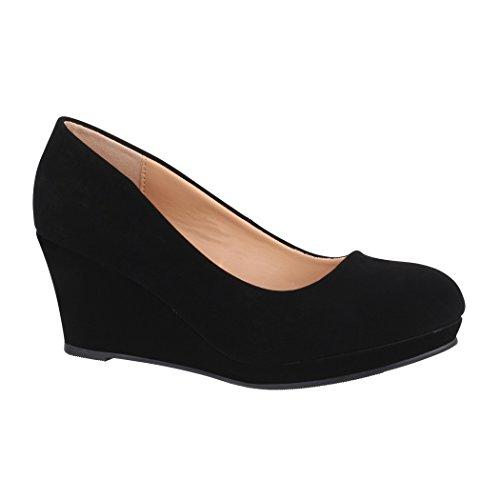 Elara Zapato de Tacón Alto para Mujer Cuña Plataforma Chunkyrayan