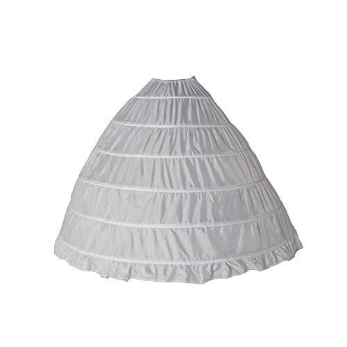 6 Ringe Unterröcke - Brautkleid Petticoat Unterrock Reifrock Petticoat Kleid Hochzeit Petticoat Reifrock Für Hochzeitskleider Ballkleider Abendkleider Brautkleider Promkleider,Tanzen,Bar (Erwachsener)