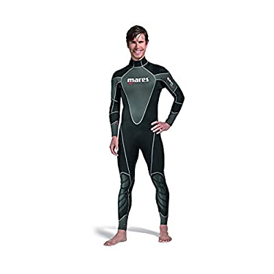 Mares Reef USA Scuba Snorkeling Wetsuit Full Suit, Black/Silver, X-Large