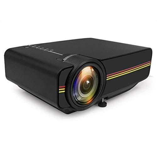 Mini-Projektor 1080P 1800 Lumen Tragbarer LCD-LED-Projektor Heimkino USB HDMI 3D Beamer Bass-Lautsprecher ( Color : Black )