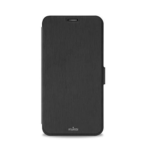 Puro aszfone2dbookcblk Tasche für Asus Zenfone 2Deluxe, schwarz