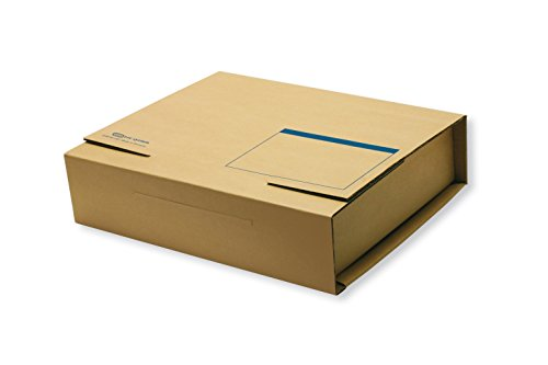 ELBA 100421125 Ordner-Versandbox tric system 20er Pack mit Adressfeld für A4 Ordner und Ringbücher bis 8 cm Rückenbreite naturbraun Versandverpackung Ordnerverpackung Versandkarton