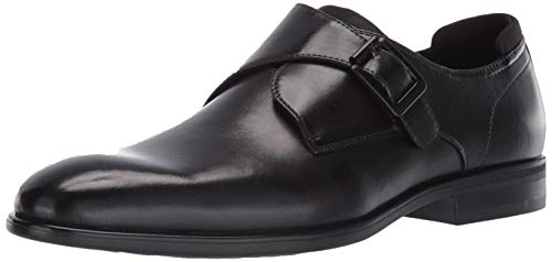 Kenneth Cole REACTION Men's Edge Flex Monk Strap Loafer, Black, 10 M US