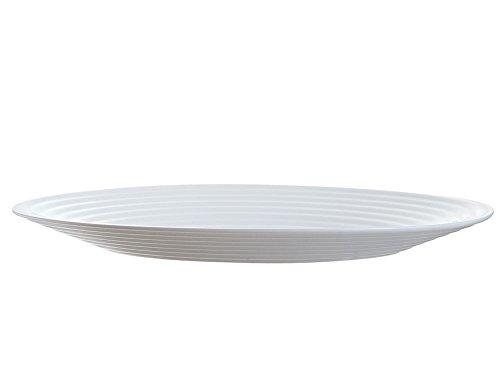 Luminarc 8013636 Harena Assiettes, Verre, Blanc, 25 cm - 1 Unité