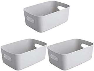 Lpiotyucwh Paniers et Boîtes De Rangement, 3 morceaux de sécheries de stockage panier de bureau Snack box de rangement en ...