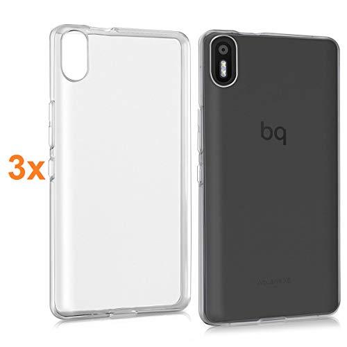 REY Pack 3X Transparente Silikonhülle TPU für BQ AQUARIS X5 y X5 Cyanogen, Handyhülle Premium Kratzfest TPU Durchsichtige Schutzhülle, Superdünne 0,33 mm