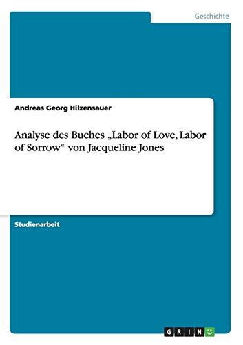 """Analyse des Buches """"Labor of Love, Labor of Sorrow"""" von Jacqueline Jones"""