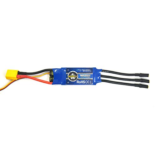 ZTW 40A Brushless ESC with BEC 3A/5V Speed Controller for rc Airplane and Helicopter … (40A ESC with Connector)