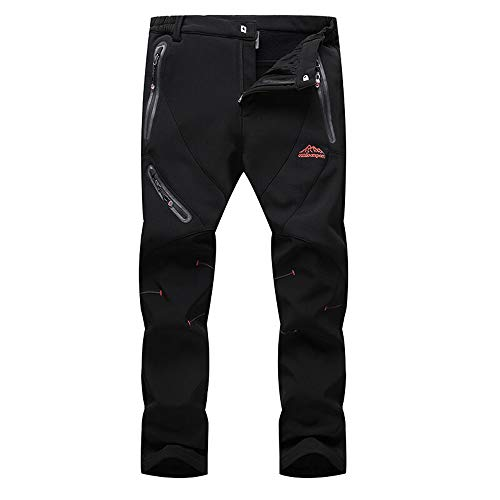 Hombres Pantalones de Softshell Transpirable Fleece Lined, Impermeable
