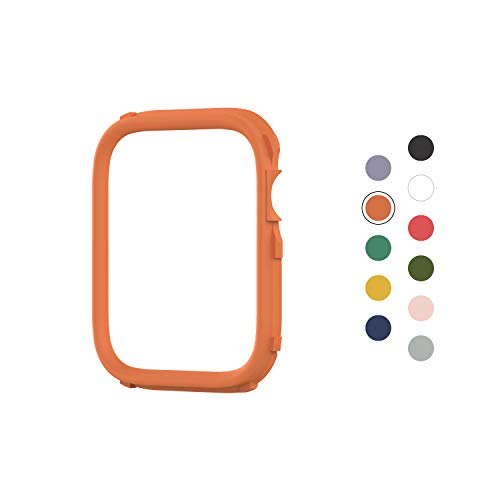 RhinoShield CrashGuard NX Extra Rim [ONLY] compatible with Apple Watch Series 1/2 / 3 [42mm] & Series 4/5 [44mm] | Additional ACCESSORY for RhinoShield Apple Watch Case - Orange
