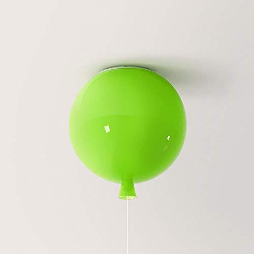 Moderne luchtballon van gekleurd glas voor slaapkamer plafondlamp E27 schakelaar met trekkoord halmontage lamp voor kinderkamer (lamp niet inbegrepen)