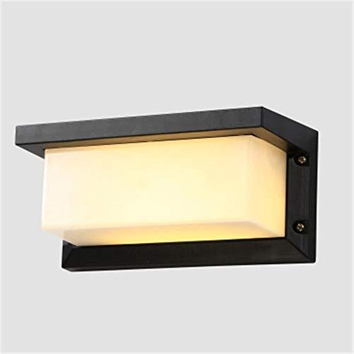 YLCJ wandlamp, staande lamp, lichtarm, buitenlamp, led, aluminiumlegering, waterdicht, vierkant, BS-12,5 x 12,5 x 26 cm