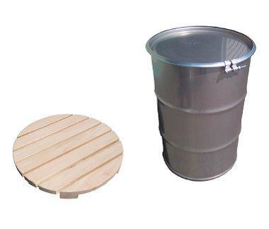 ドラム缶風呂セット ステンレス製ドラム缶・新品檜すのこ付 200L