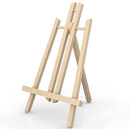 INTIRILIFE Tischstaffelei aus Buchenholz 23 x 40 cm - Klappbarer Bildhalter Foto-Ständer Dreibeinige Sitzstaffelei