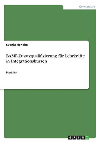 BAMF-Zusatzqualifizierung für Lehrkräfte in Integrationskursen: Portfolio