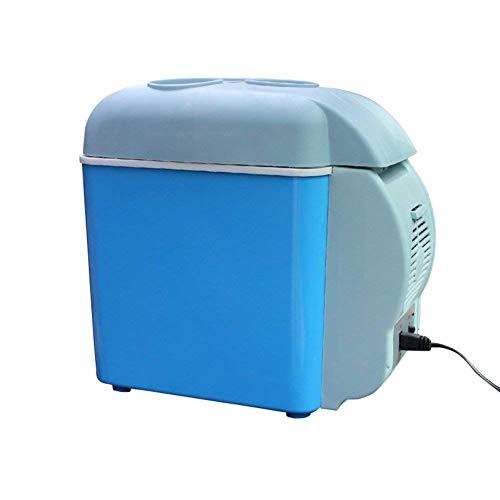 Refrigerador de Coches, 7,5 litros, automóviles y Mini refrigeración Portátil Mini Universal Mini Nevera Mini Dorm Pequeño Frigorífico Congelador-Azul Peng (Color : Blue)