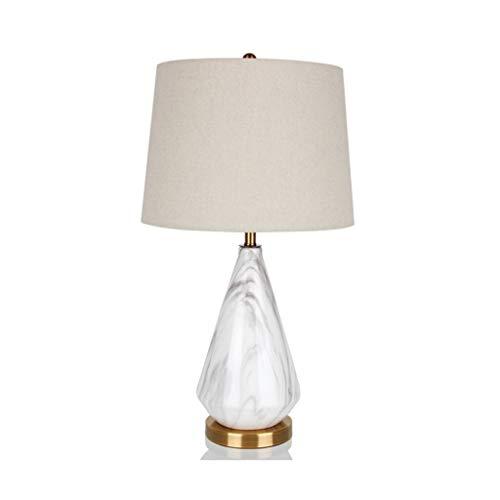 Lámparas de mesa y mesilla de noche Lámpara de mesa de cerámica dormitorio estudio sala de estar decoración de la lámpara Nordic moderno minimalista paño de la lámpara de la mesa de noche Lámparas de