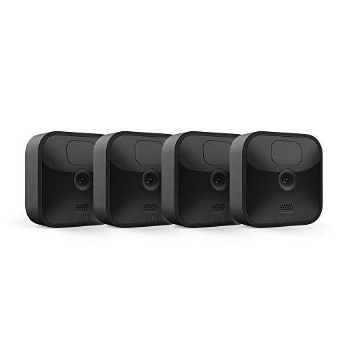 Nuova Blink Outdoor - Videocamera di sicurezza in HD, senza fili, resistente alle intemperie, batteria con 2 anni di autonomia e rilevazione di movimento | Sistema a 4 videocamere