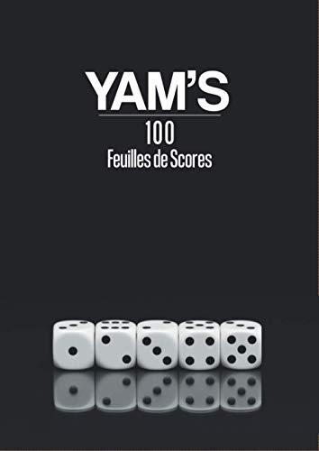 YAM'S 100 Feuilles de Scores: Noir et Blanc | 100 Pages Crème | Format confort 21 x 29,7 cm | Yams | Yam's | Jeux de dés | Feuilles de marques | Jeux ... Divertissement | Yahtzee (Et si on jouait ?)