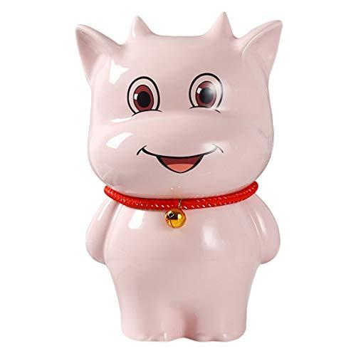 Hucha Banco de Dinero Hucha, Niño de apreciar cerámica Piggy Bancos Juguete del Banco del Dinero del Banco de Moneda for los Muchachos Muchachas de los Cabritos (Color : Pink, tamaño : Small)