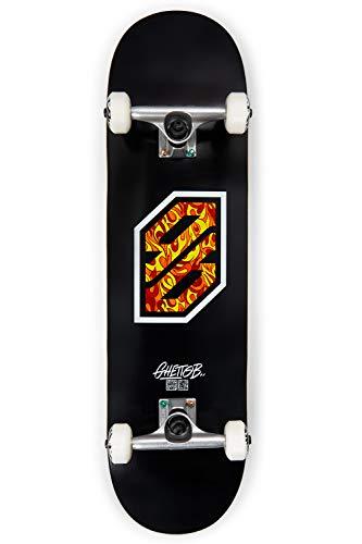"skateboard 8.5 GHETTO BLASTER Tavola Skateboard Completo Flame WHI 8.5"""