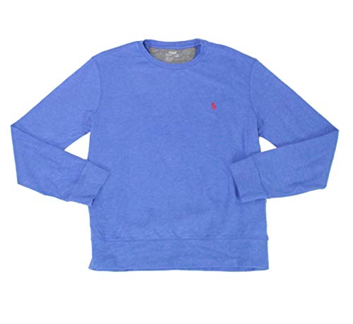 Ralph Lauren Polo Men's Luxury Jersey Crewneck Fleece Pullover Sweatshirt (Dockside Blue Heather, XX-Large)
