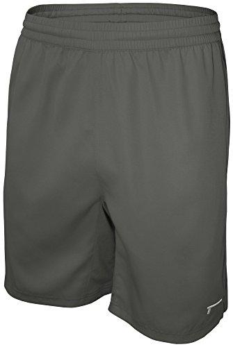 TREN Herren COOL Premium Performance Vent Woven Short Sporthose mit Seitentaschen Dunkelgrau 020 - M