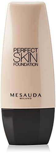 Mesauda Milano Fondotinta Fluido Lunga Tenuta Perfect Skin Foundation, Sand 103, 30 ml