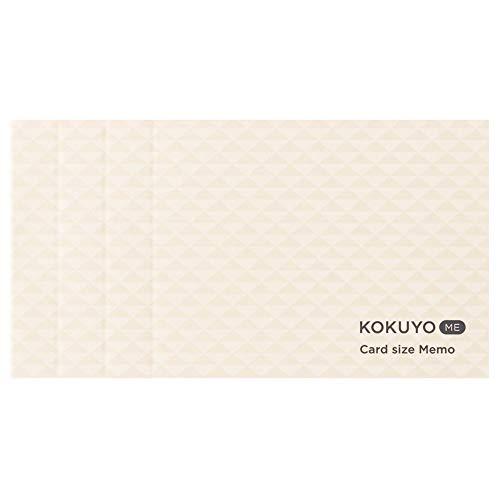 コクヨ メモ カードサイズ KOKUYO ME カットオフ 3mm方眼 白 KME-MPM1S3W