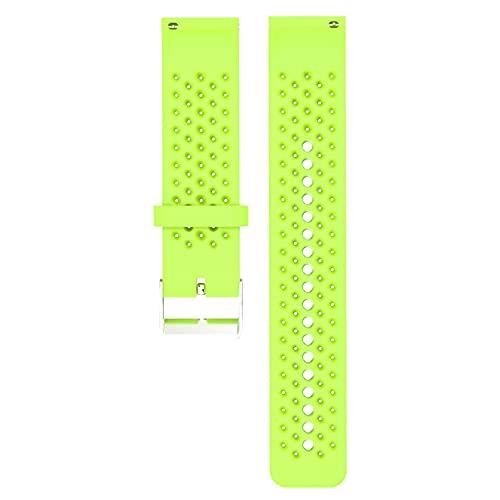 QiKun-Home Para Polar Vantage M Silicona Smartwatch Reemplazo Correa Oficial Patrón Negro Hebilla Deportes Reemplazo Pulsera Verde