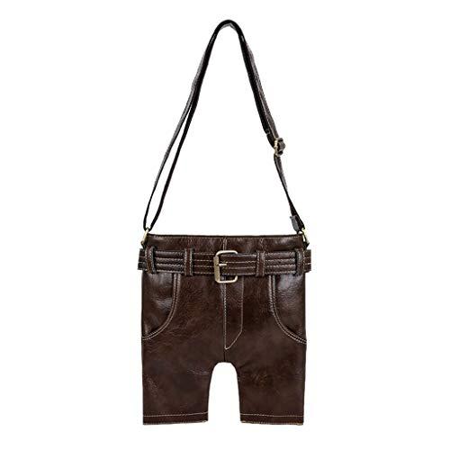 DWQuee Trend Lederhose Umhängetasche, Fashion Womens Large Capacity Leder Schultertasche Handtasche Einfache Tasche