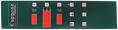 Tastaturfolie für Pizzaofen Cuppone EVOLUTION DIGITAL, MAX 6/35, MAX 4/35, Mastro CAB0020, CAB0019