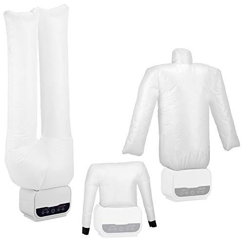 Sichler Haushaltsgeräte Hemdentrockner: Digitale 3in1-Bügelpuppe mit Hosen- & Schuhaufsatz, Timer, 1.200 Watt (Schuhtrockner)