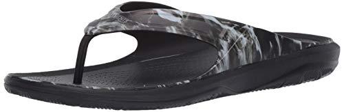 Crocs Men's Swiftwater Mossy Oak Wave Flip Flop Casual Summer Sandal Beach Shoe, Chanclas Hombre, Negro, 40 EU